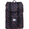 Herschel Little America Mid-Volume Black Mini Floral/Black Synth Leather
