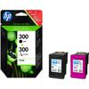 verpakking HP 300 Zwart + Combo Pack 3-Kleuren