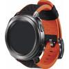 rechterkant Sport Hybrid Horlogeband Oranje