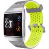 achterkant Ionic Siliconen Horlogeband Grijs/Geel