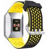 voorkant Ionic Siliconen Horlogeband Zwart/Geel