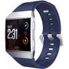 voorkant Fitbit Ionic Siliconen Horlogeband Blauw