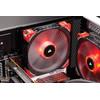 product in gebruik Corsair ML140 LED Rood