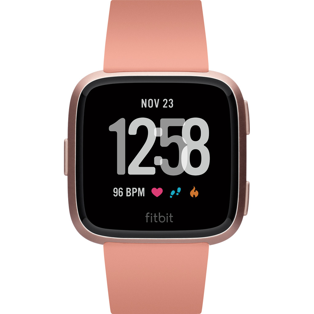 Fitbit Versa Peach/Rose Gold Aluminum in Groot-Bedaf