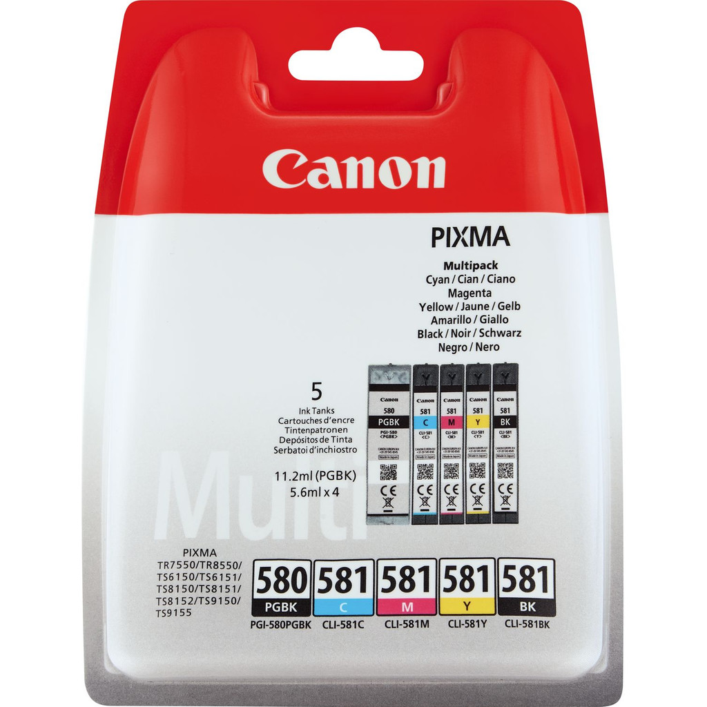 Canon PGI-580/CLI-581 Multipack (2078C005) in Zevenhutten