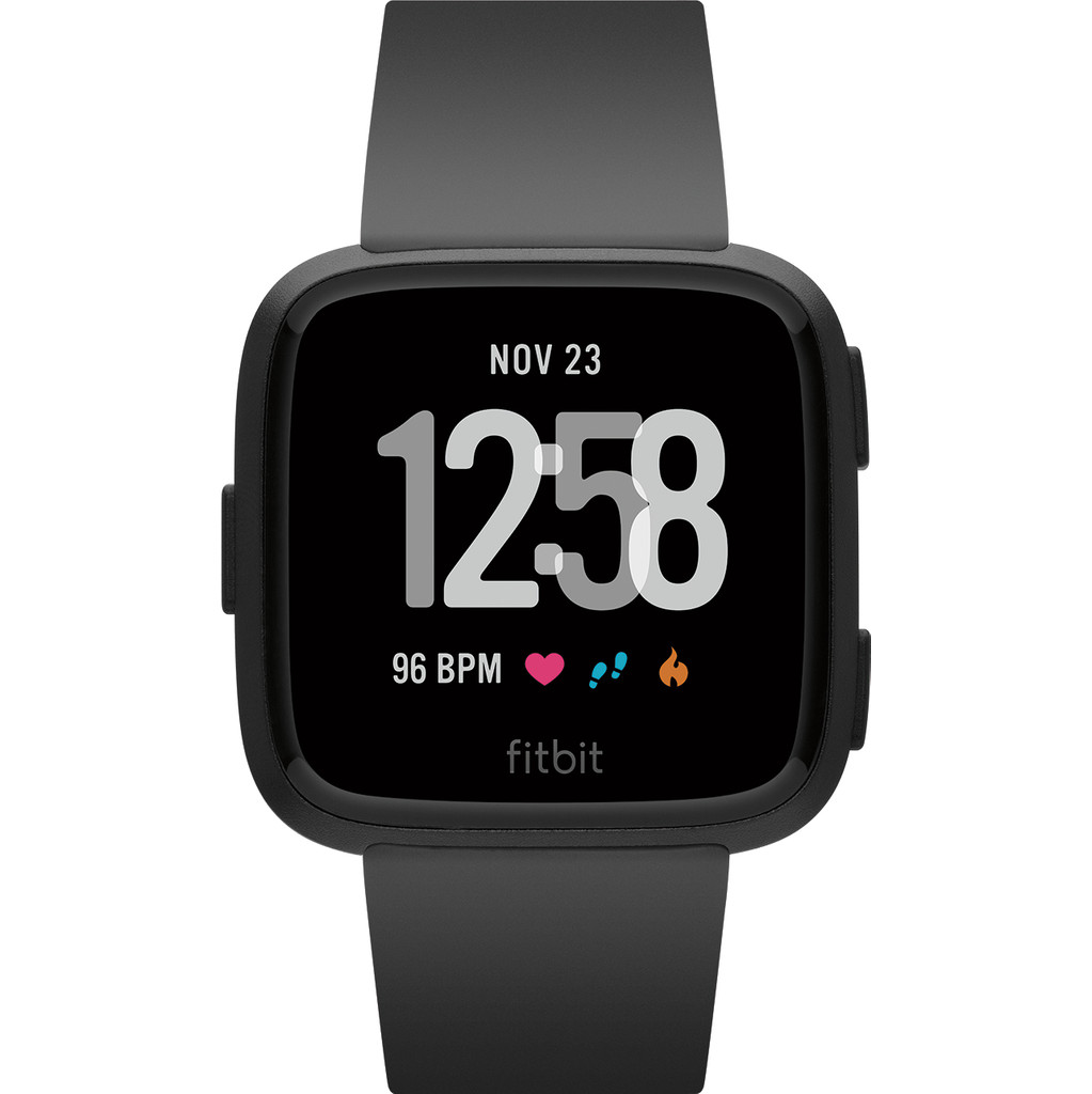 Fitbit Versa Black/Black Aluminum in Krachtighuizen