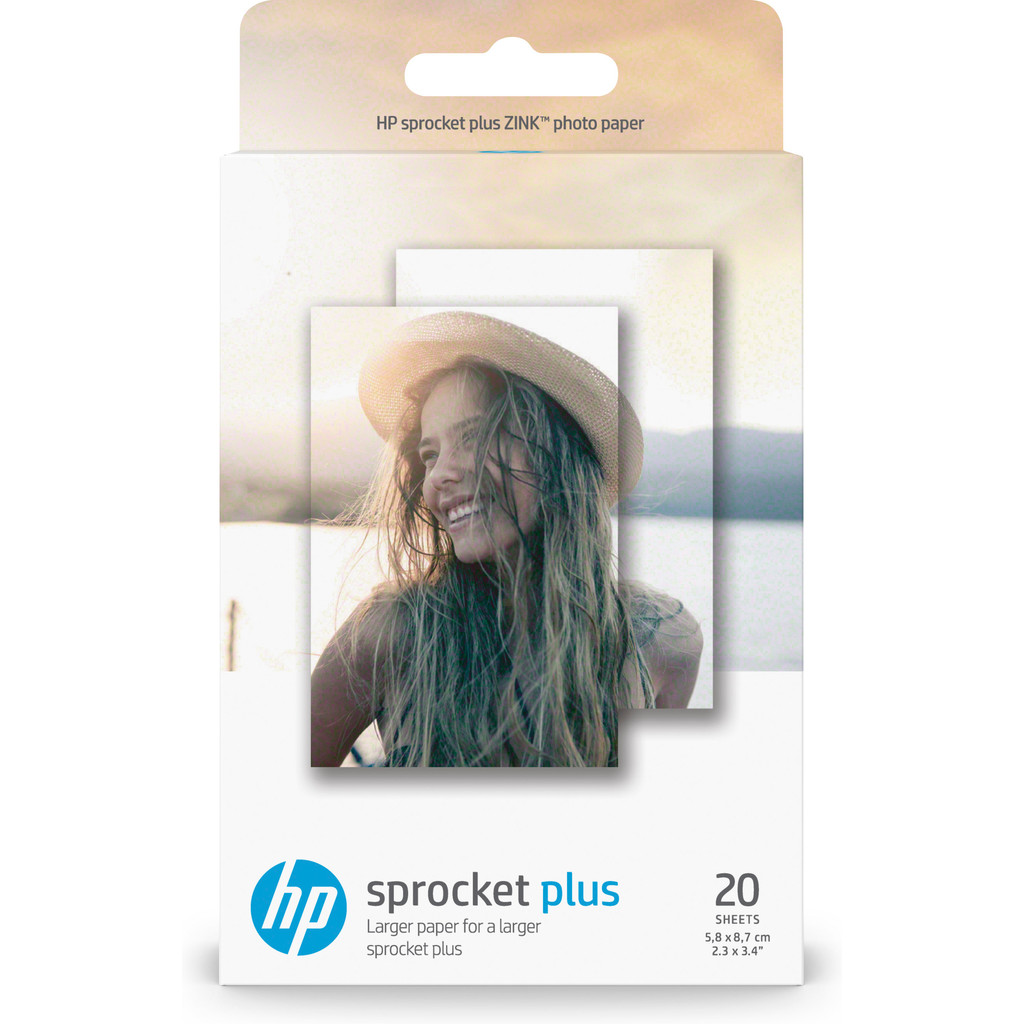 HP ZINK Fotopapier voor Sprocket Plus 20 vel in Hoogcruts