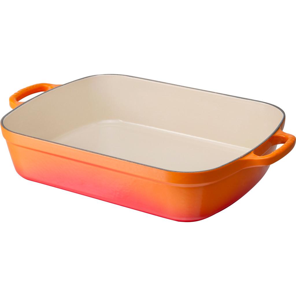 Le Creuset Gietijzeren Braadslede 33 cm Oranje-rood kopen