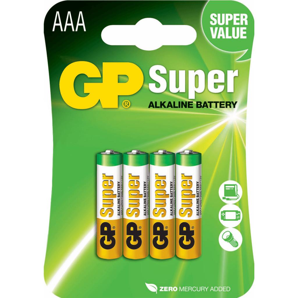 GP Super Alkaline AAA Micro penlite, blister 4 in Vijfhuizen