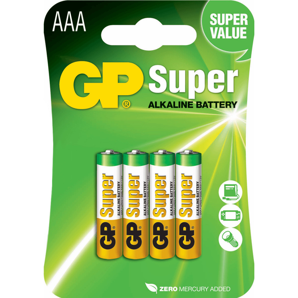 GP Super Alkaline AAA Micro penlite, blister 4 in Ogy