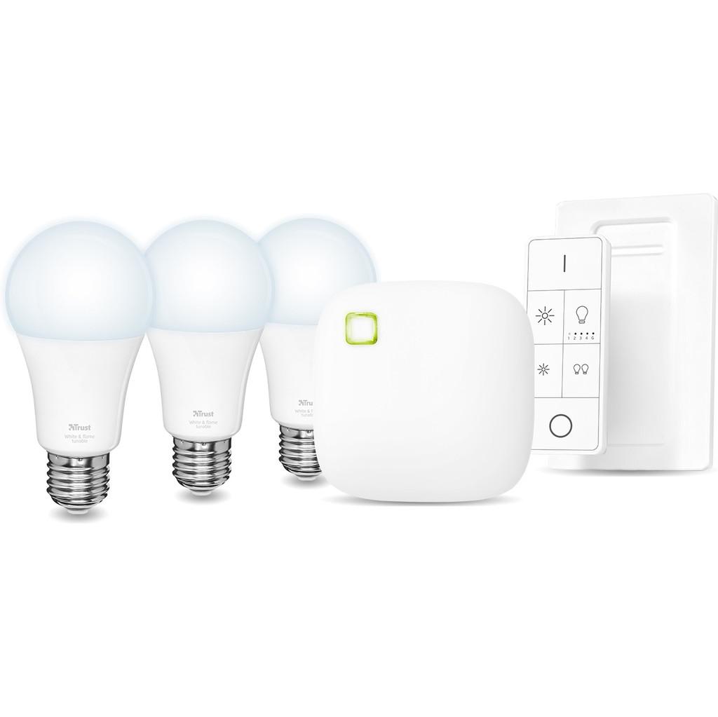 Trust Smart Home White Ambiance E27 Starterkit met Dimmer in Ouddorp