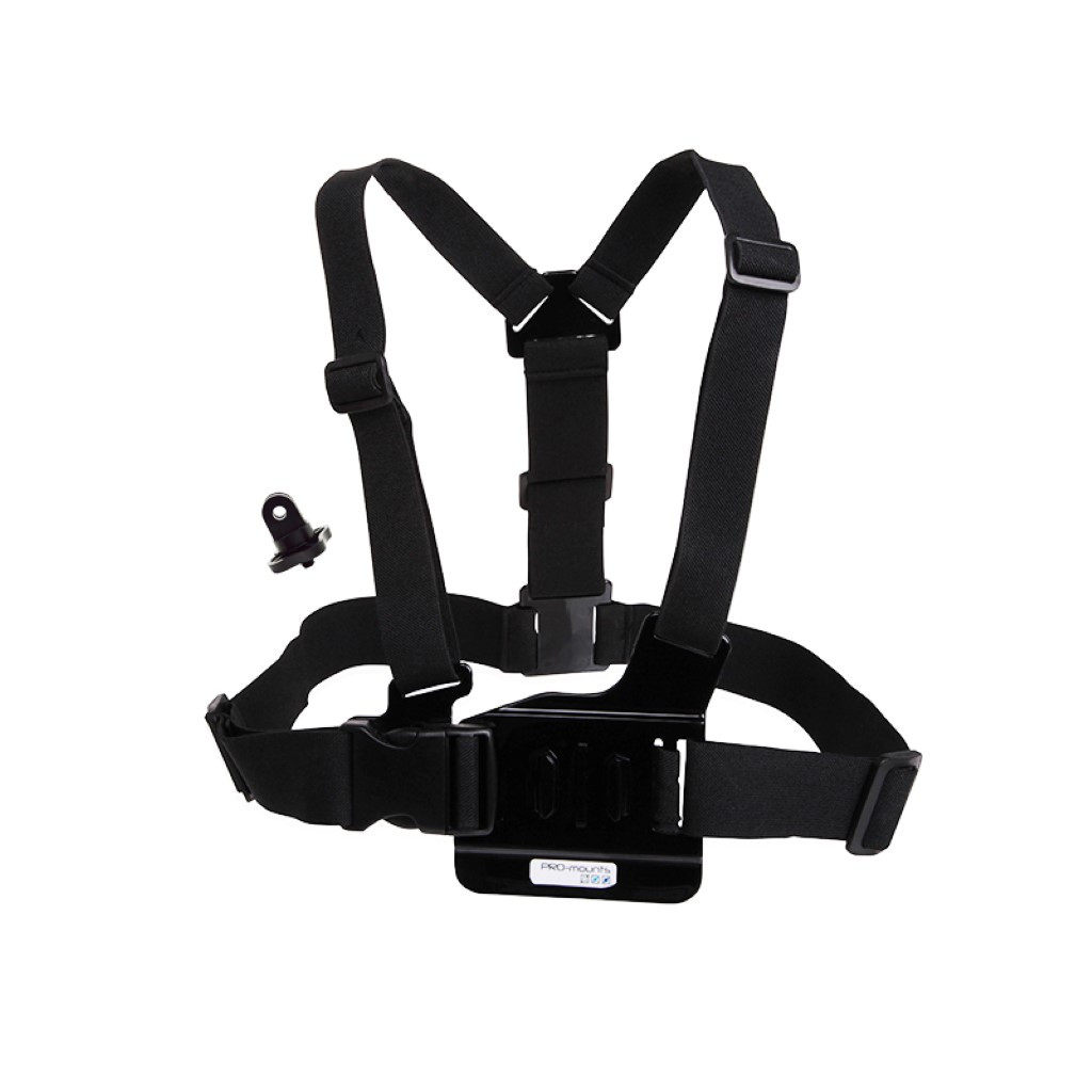 PRO-Mounts Chest Harness SE: incl. Camera Adapter in Donkersvoort