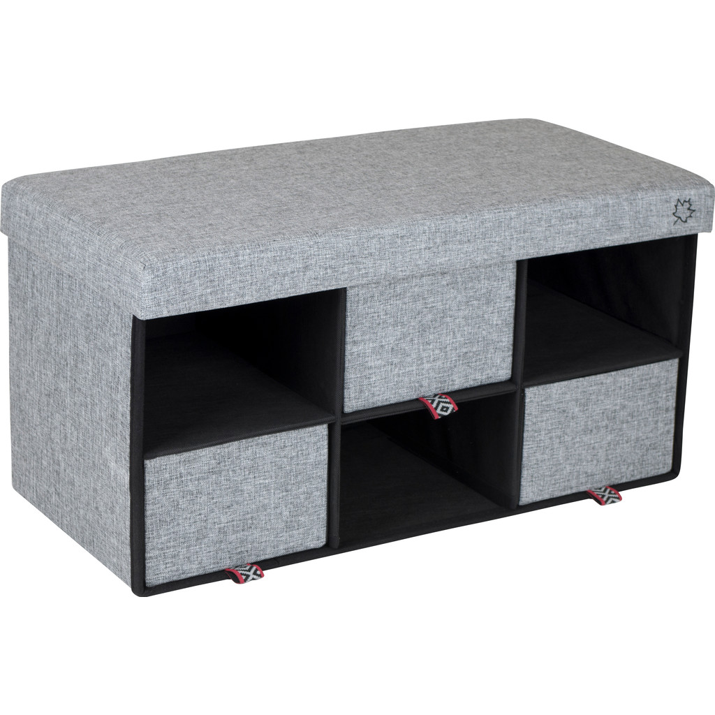 Bo-Camp Urban Outdoor Ottoman Barnet Grijs in Grafhorst