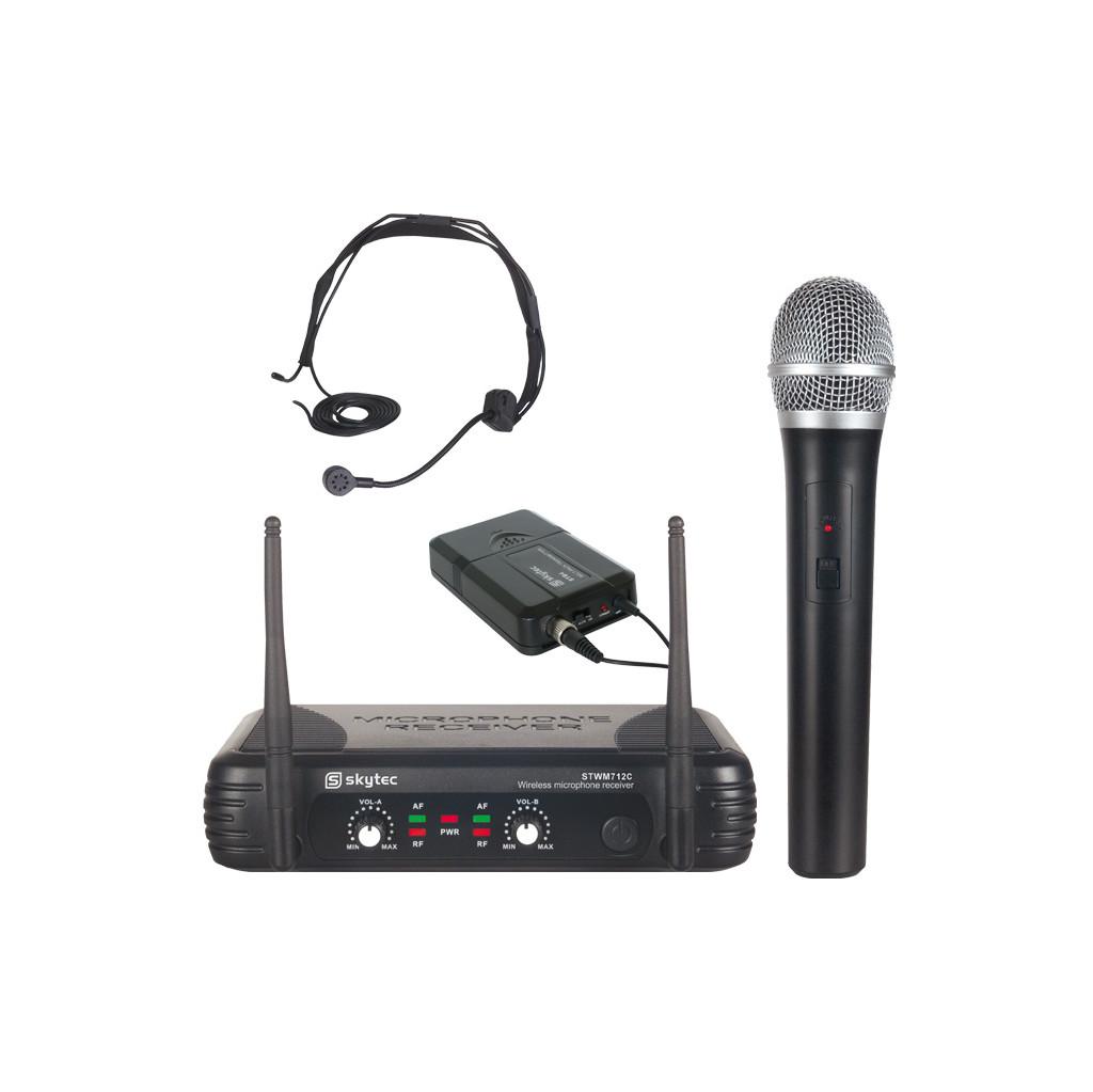 Skytec STWM712C 2-kanaals VHF microfoonsysteem