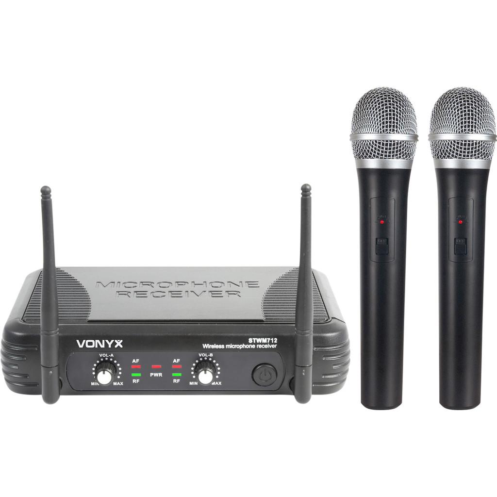 Skytec STWM712 2-kanaals VHF microfoonsysteem