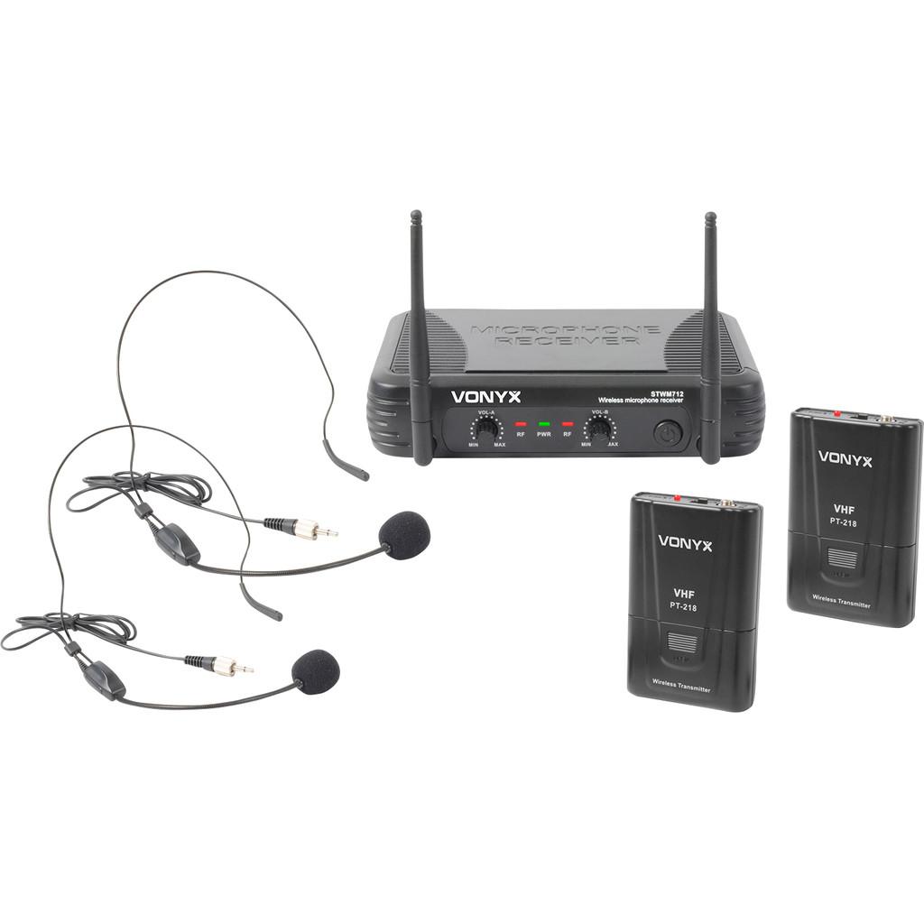 Skytec STWM712H 2-kanaals draadloos microfoonsysteem