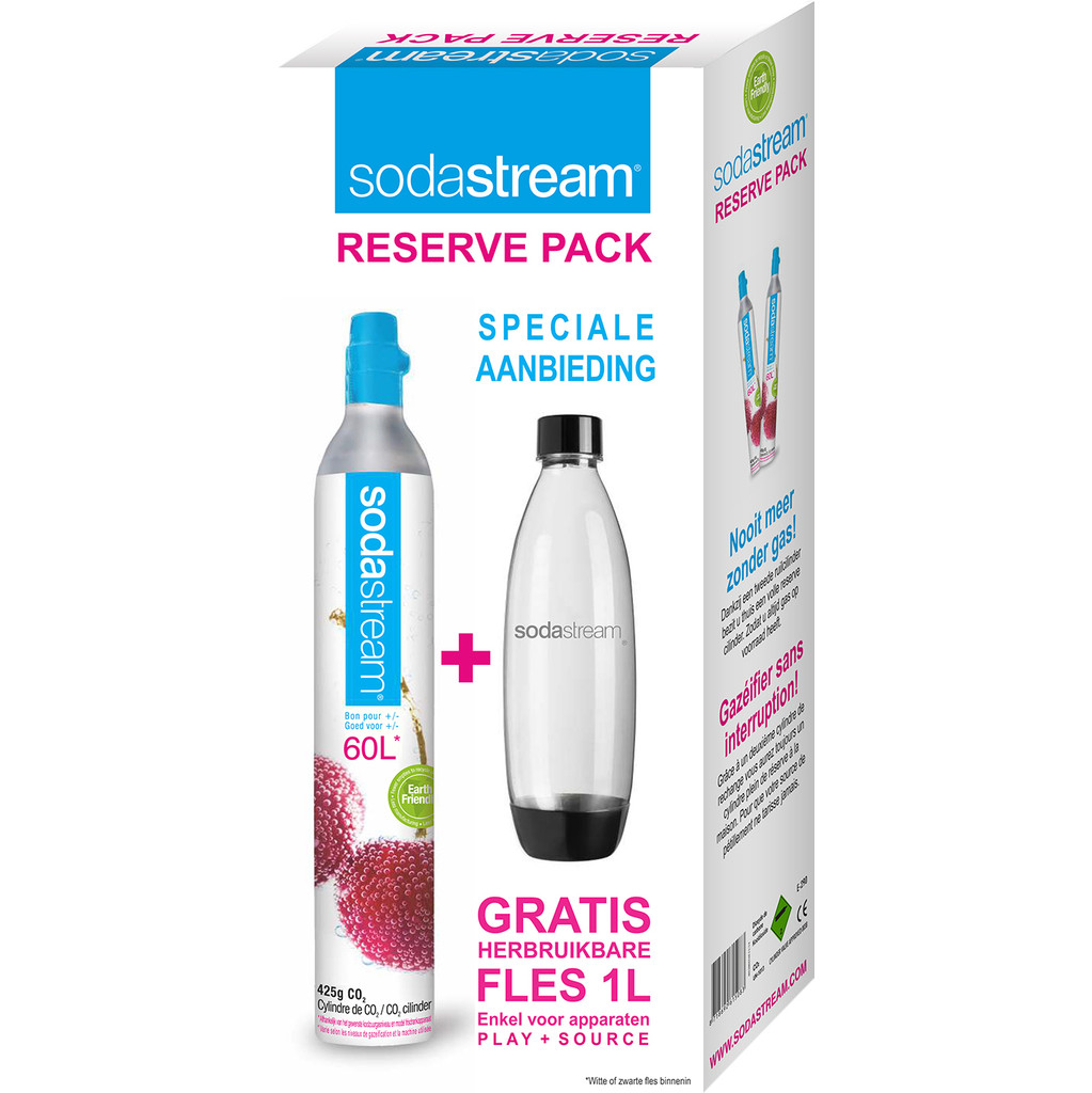 SodaStream Reservepack CO2-Cilinder + Fles in Fraire
