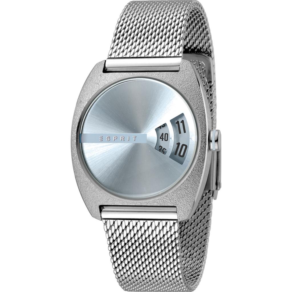 Esprit Horloge Disc staal 32 mm zilverkleurig-lichtblauw ES1L036M0045