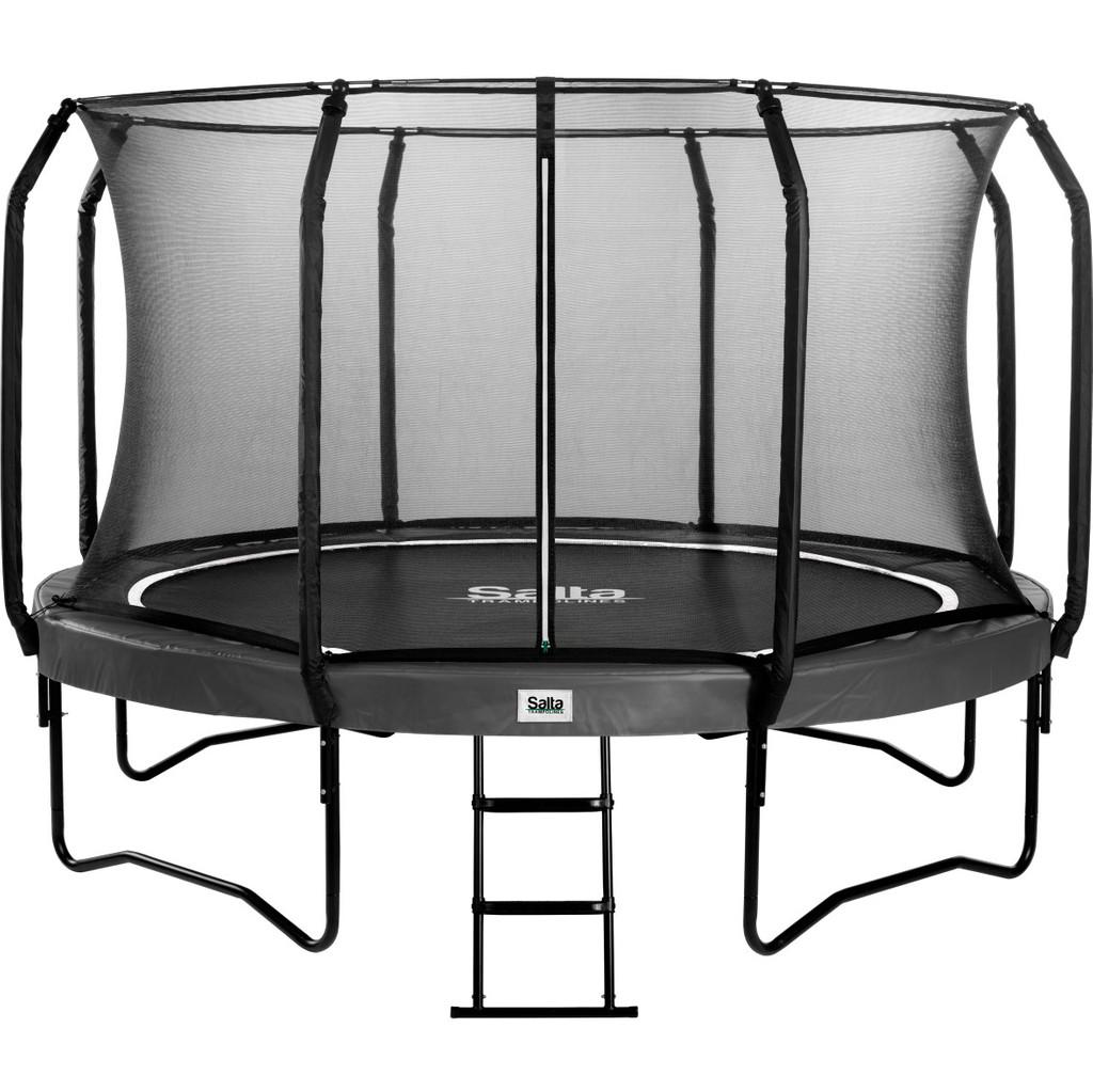 Salta First Class Combo trampoline rond met veiligheidsnet en ladder 427 cm zwart