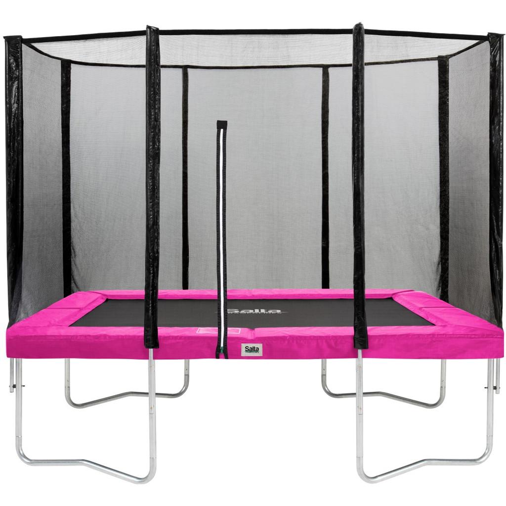 Salta Rechthoekig met Veiligheidsnet 152 x 214 cm Roze in Collendoornerveen