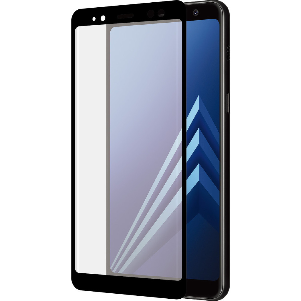 Azuri Gehard Glas Samsung Galaxy A8 (2018) Screenprotector Glas Duo Pack Zwart in Groot Wetsinge