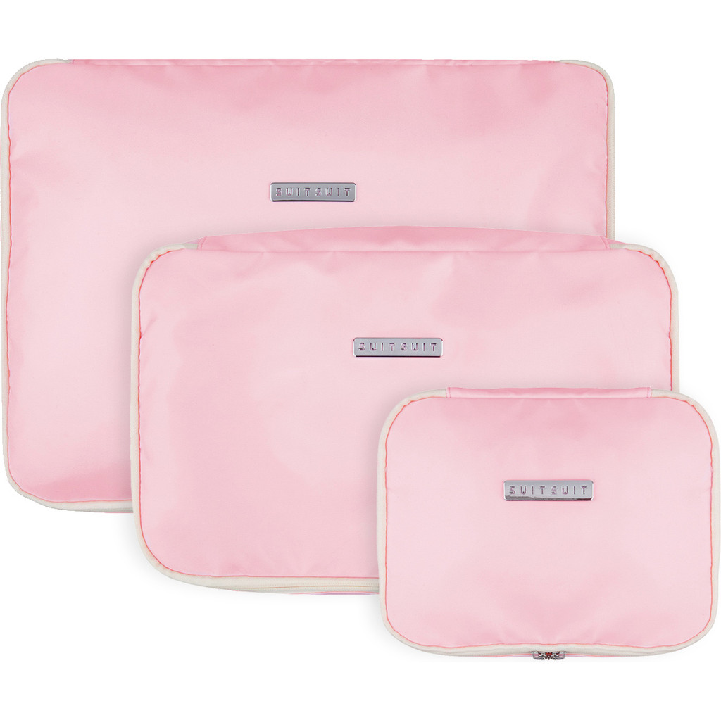 SUITSUIT Fabulous Fifties Packing Cube Set (S-M-L) Pink Dust kopen