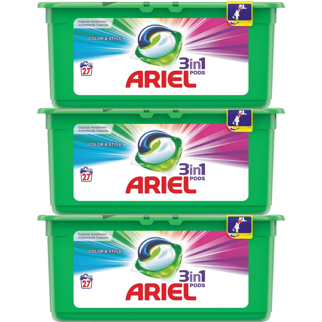 Afbeelding van Ariel 3in1 Pods Colour (81 stuks) wasmiddel