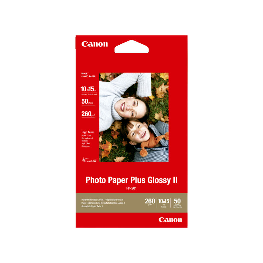 Canon PP-201 Glossy Plus Fotopapier 50 Vellen 10 x 15 cm in De Tuut