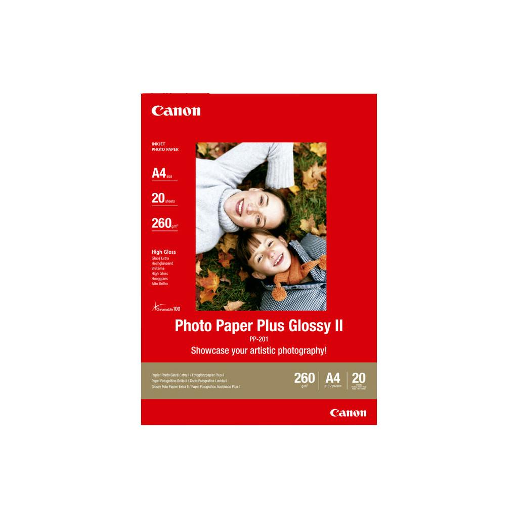 Canon PP-201 Glossy Plus Fotopapier 20 Vellen A4 in Spaansehoek
