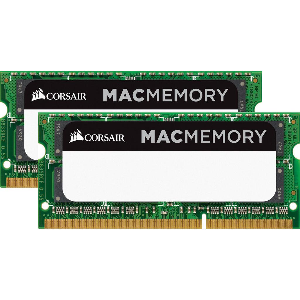 Afbeelding van Corsair Apple Mac 16GB DDR3L SODIMM 1600 MHz (2x8GB) intern geheugen