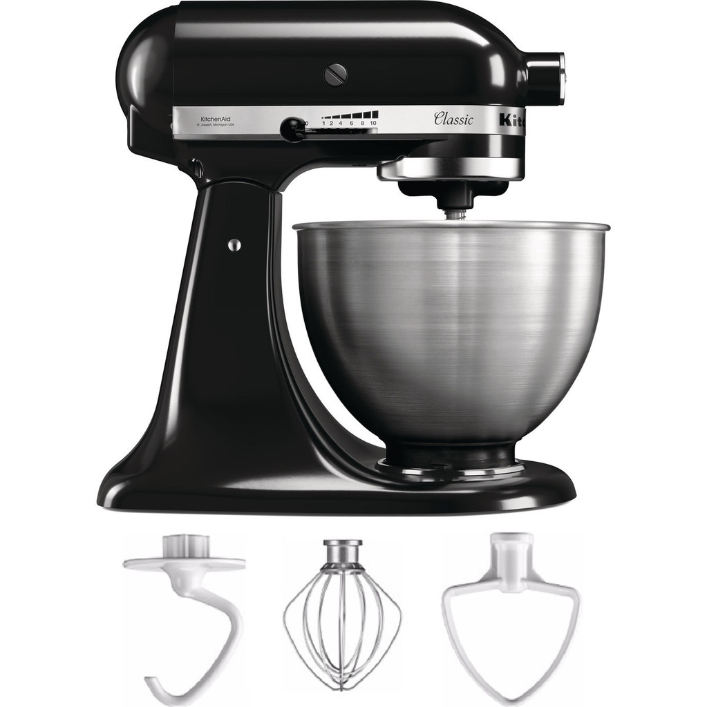 KitchenAid Classic Mixer 5K45SSEOB Zwart in Eine
