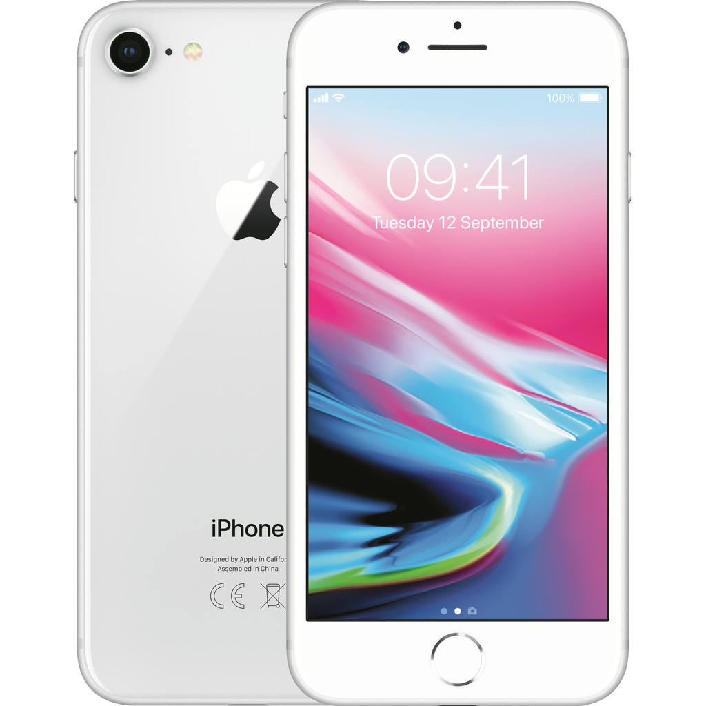 Apple iPhone 8 256GB Zilver-256 GB opslagcapaciteit  4,7 inch Retina HD scherm  iOS 11