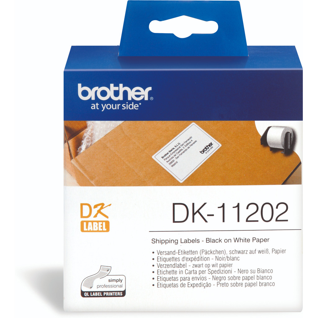 Brother DK-11202 Labels (62 x 100 mm) 1 Rol in Vetterik