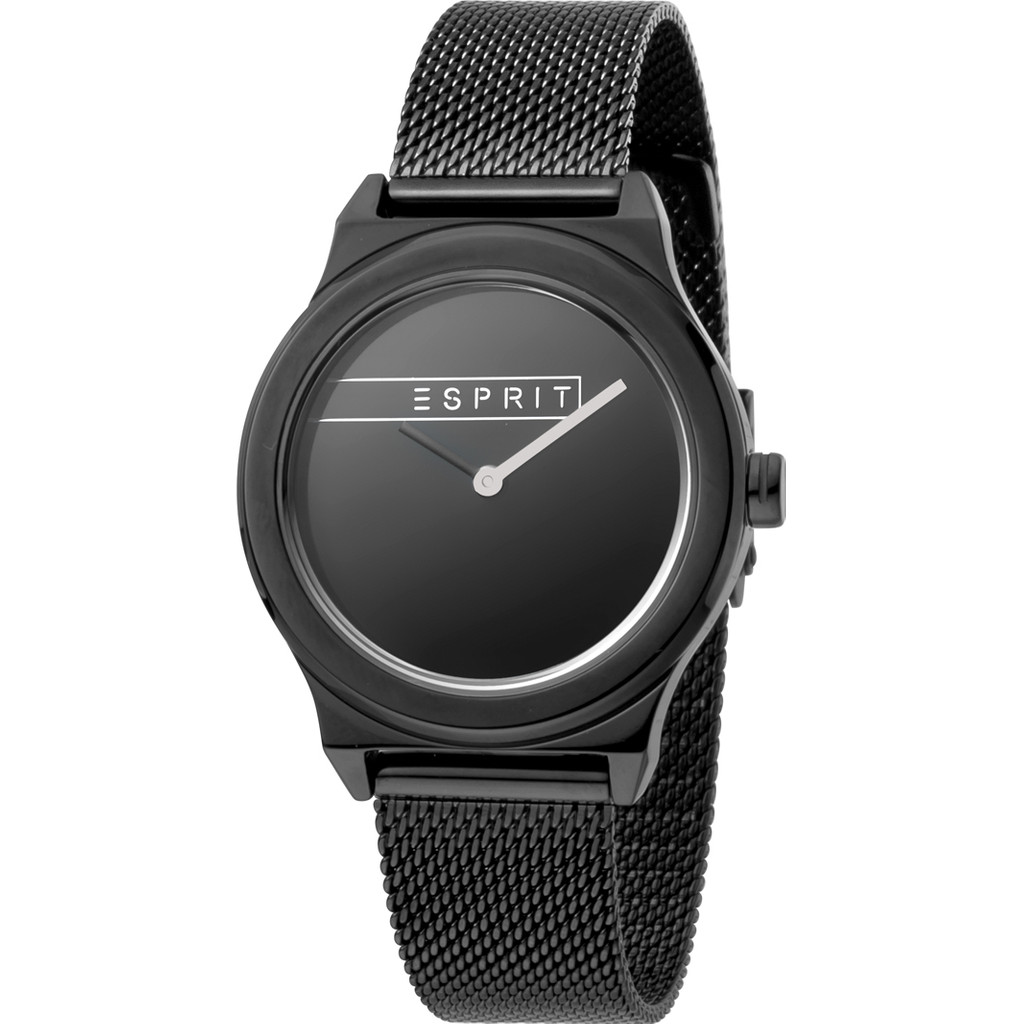 Esprit Horloge Magnolia staal 34 mm zwart ES1L019M0105