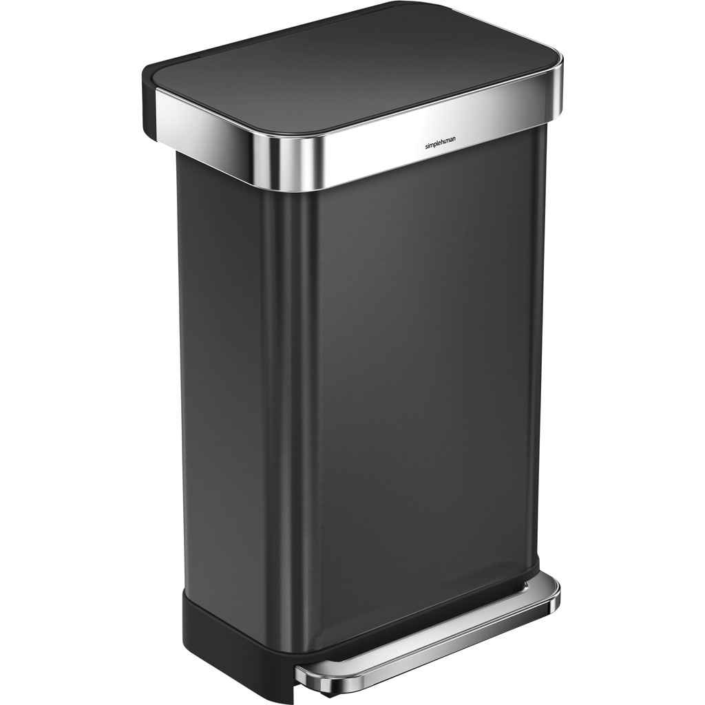 Simplehuman Rectangular Liner Pocket Rvs 45 liter