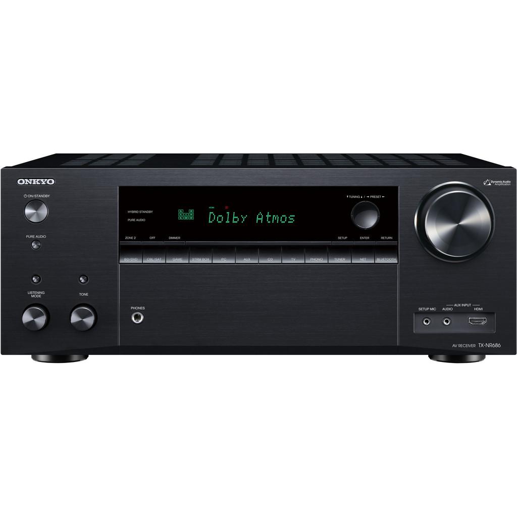 Onkyo: TX-NR686 7.2 Surround receiver Zwart