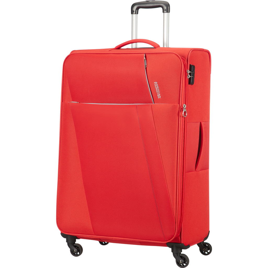 American Tourister Joyride Spinner 79 Expandable flame red Zachte koffer