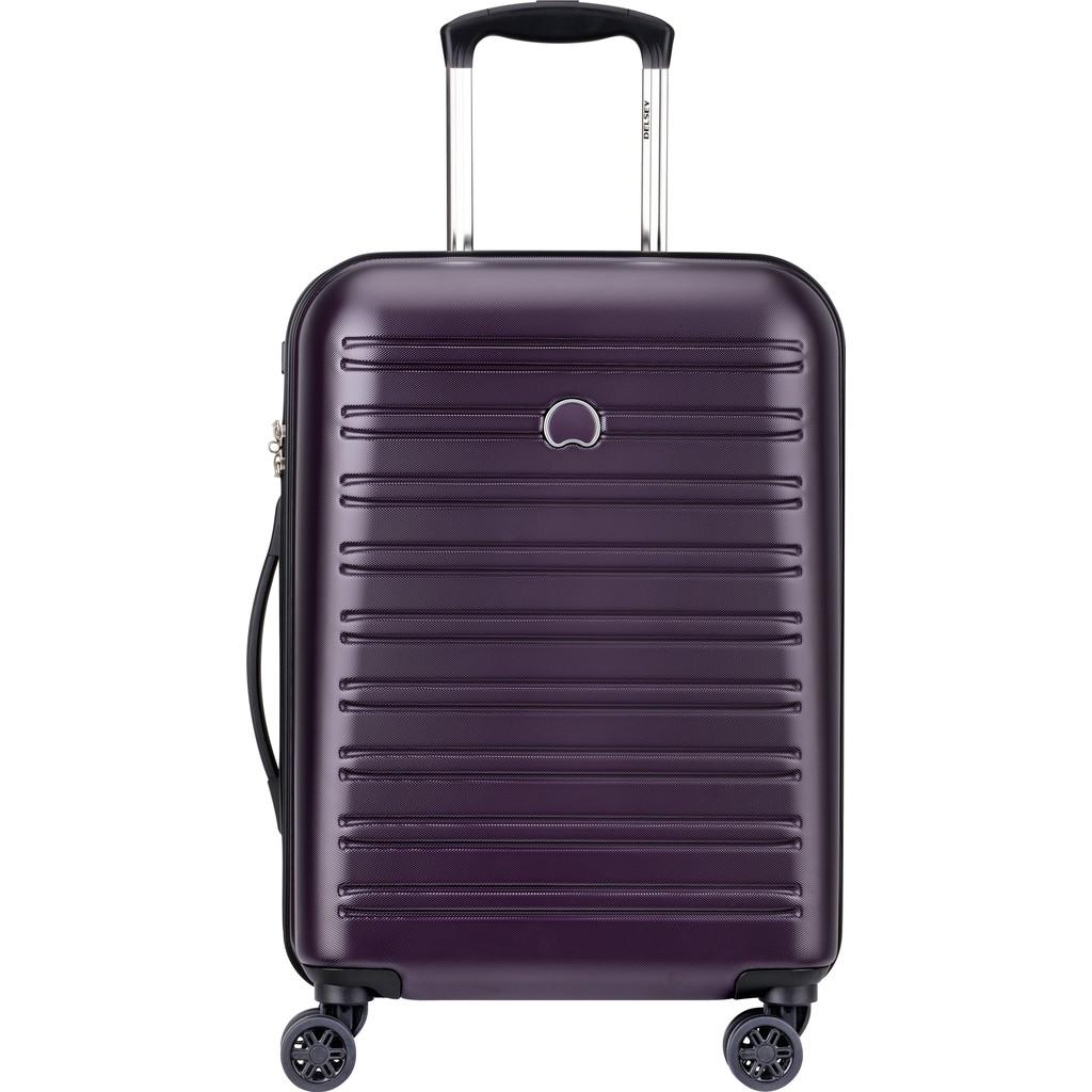 Delsey Segur Slim 4 Wiel Trolley 55 lilac Harde Koffer