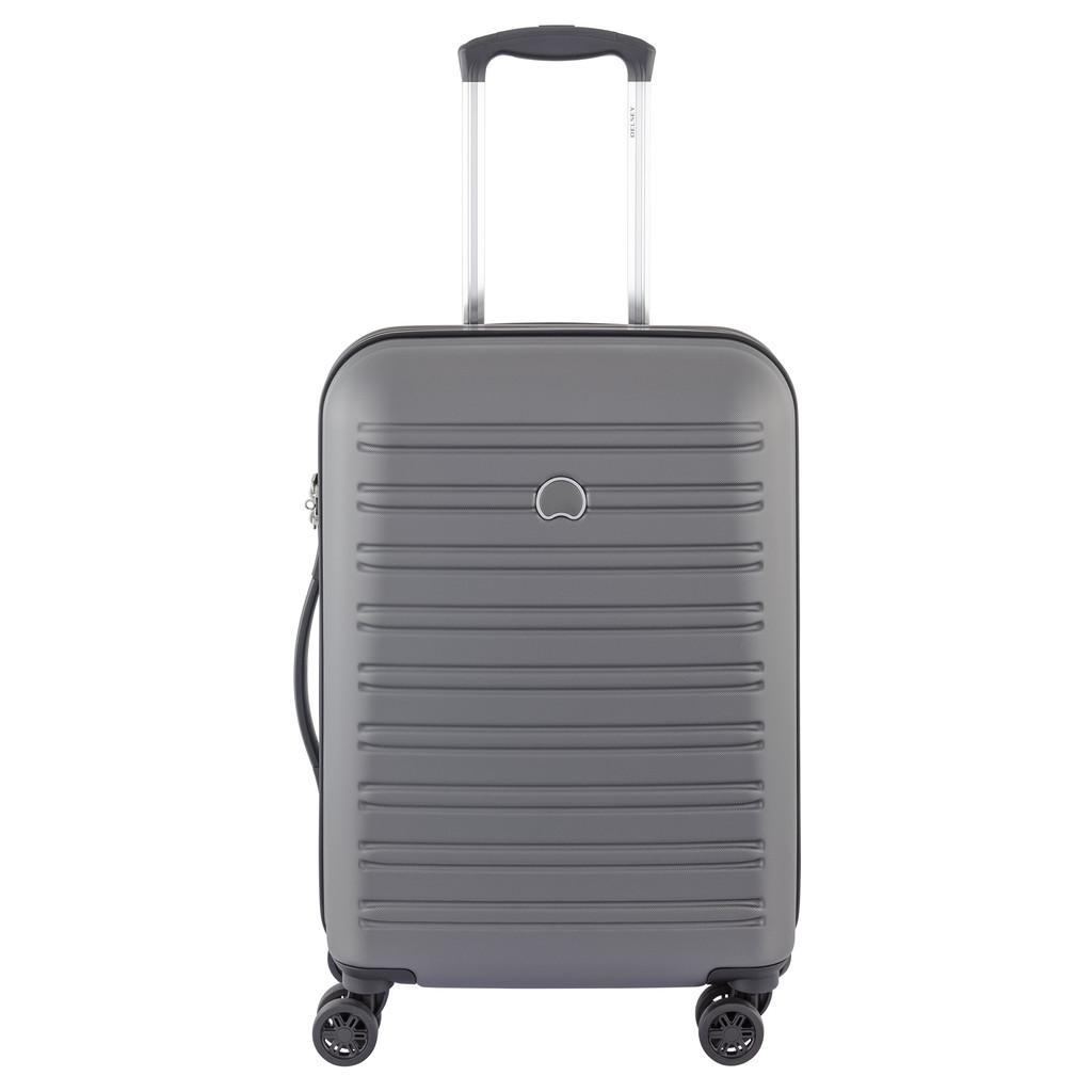 Delsey Segur Slim Cabin Trolley Case 4 Wheel 55 Grey