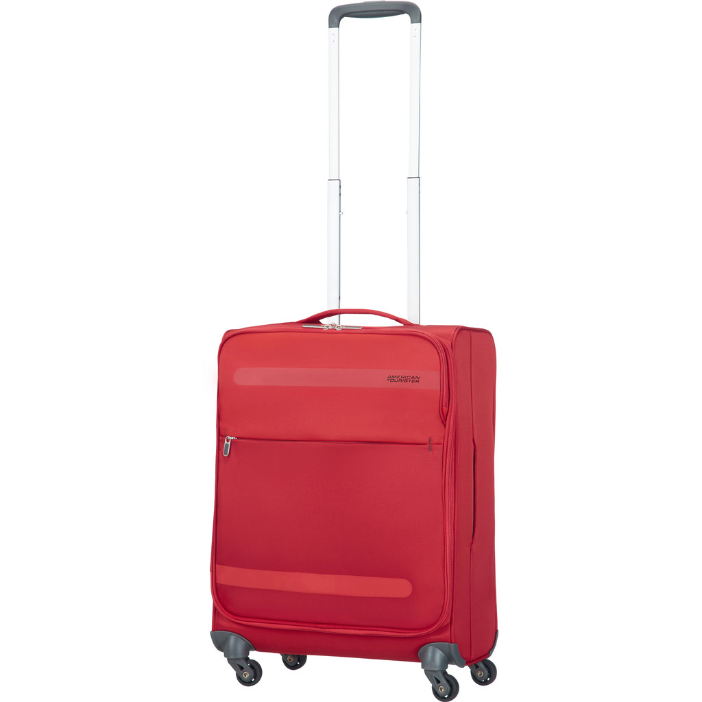 American Tourister Herolite Super Light Spinner 55cm Formula Red kopen