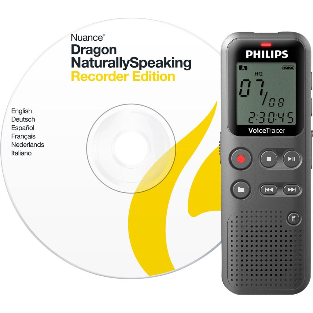 Philips DVT1110 voice recorder met dicteersoftware (bundel)