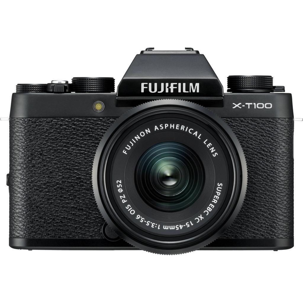 Fujifilm X-T100 systeemcamera Zwart + XC 15-45mm objectief