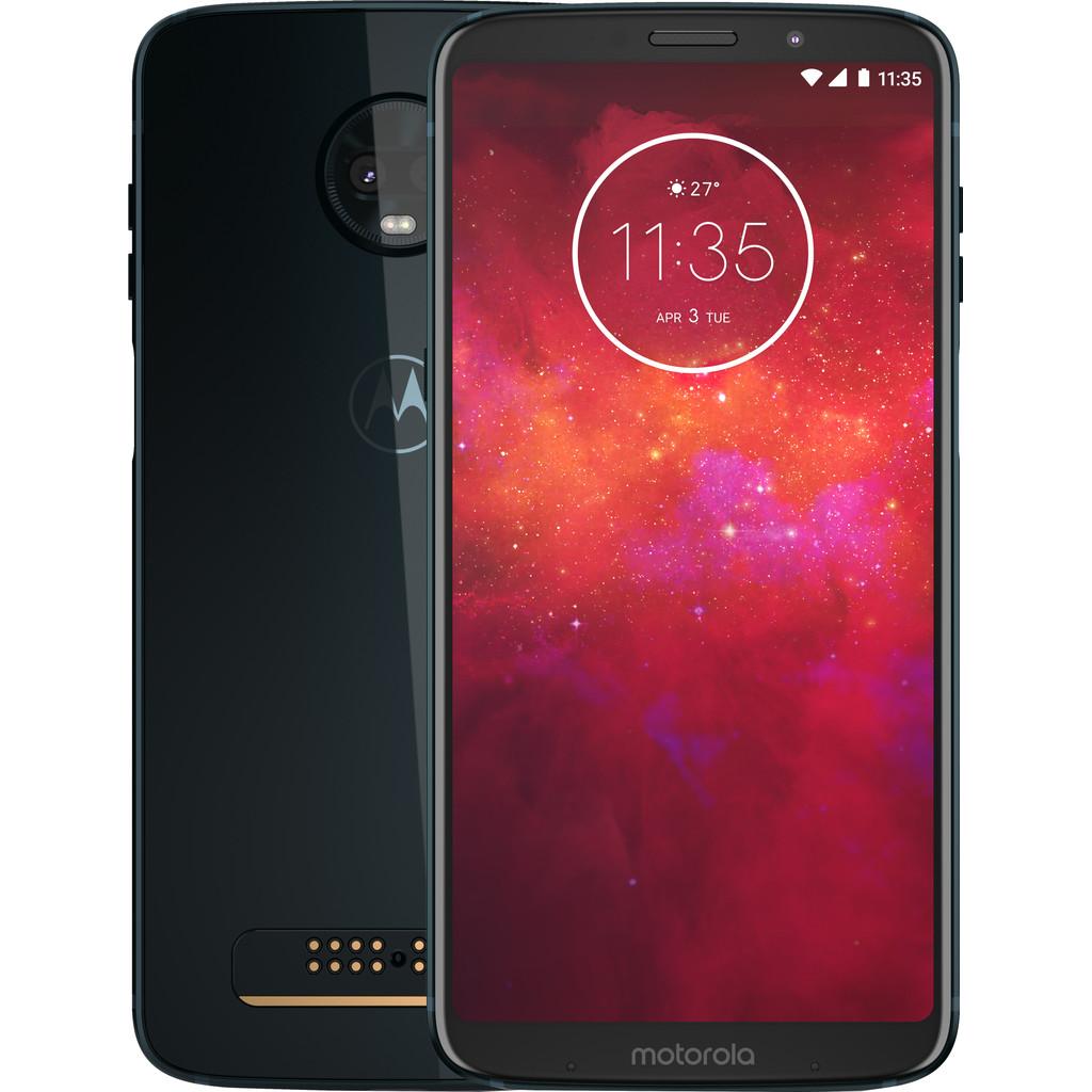 Motorola Moto Z3 Play Blauw-64 GB opslagcapaciteit  6 inch Quad HD scherm  Android 8.1 Oreo