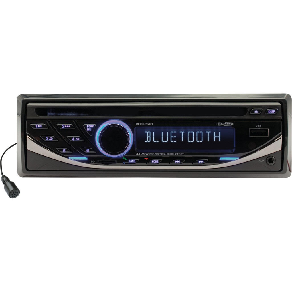 Caliber Audio Technology RCD125BT Autoradio enkel DIN 4 x 75 W Bluetooth, USB, microSD, Jackplug