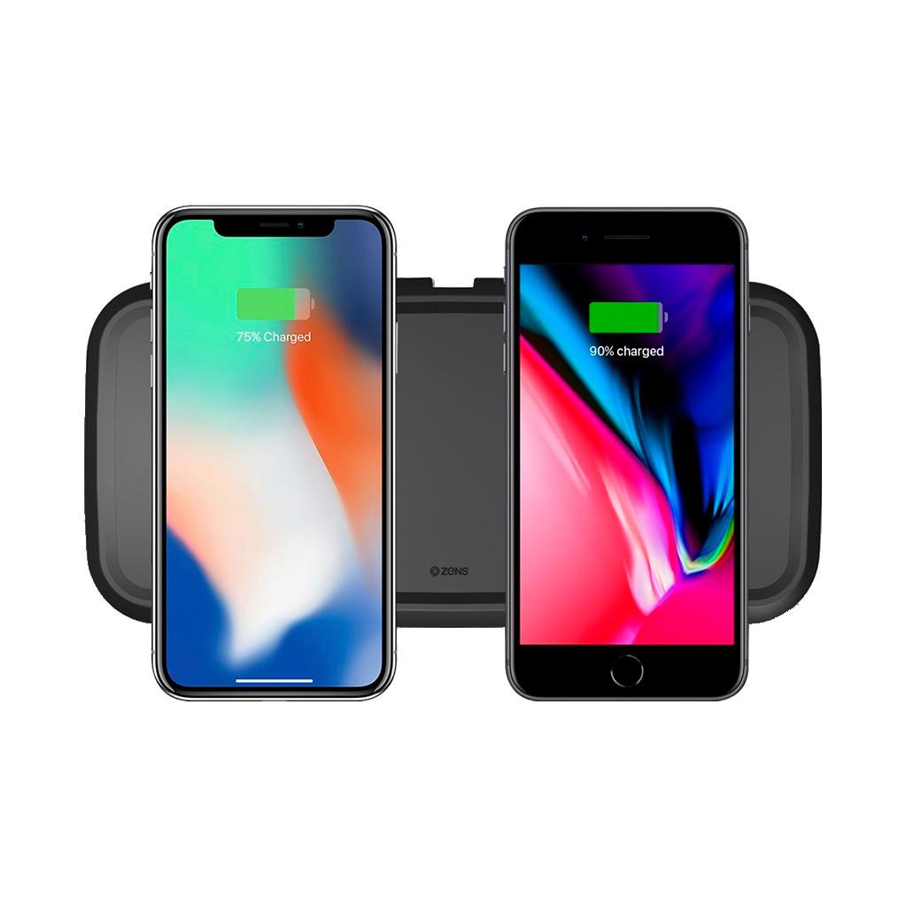 ZeNS� Dual Ultra Fast Wireless charger-oplader voor Apple iPhone, 15 watt