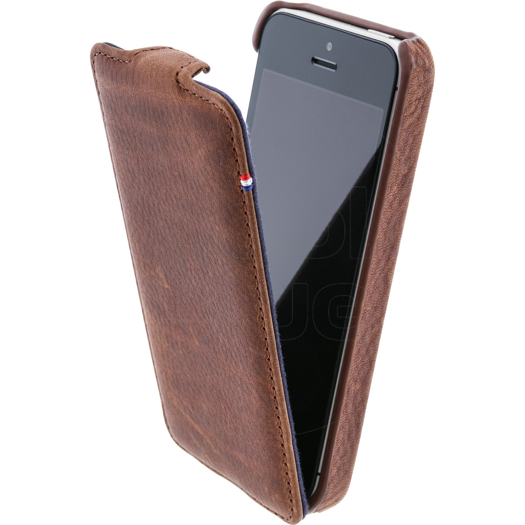 Decoded Leather Flipcase Apple iPhone 5-5S Brown