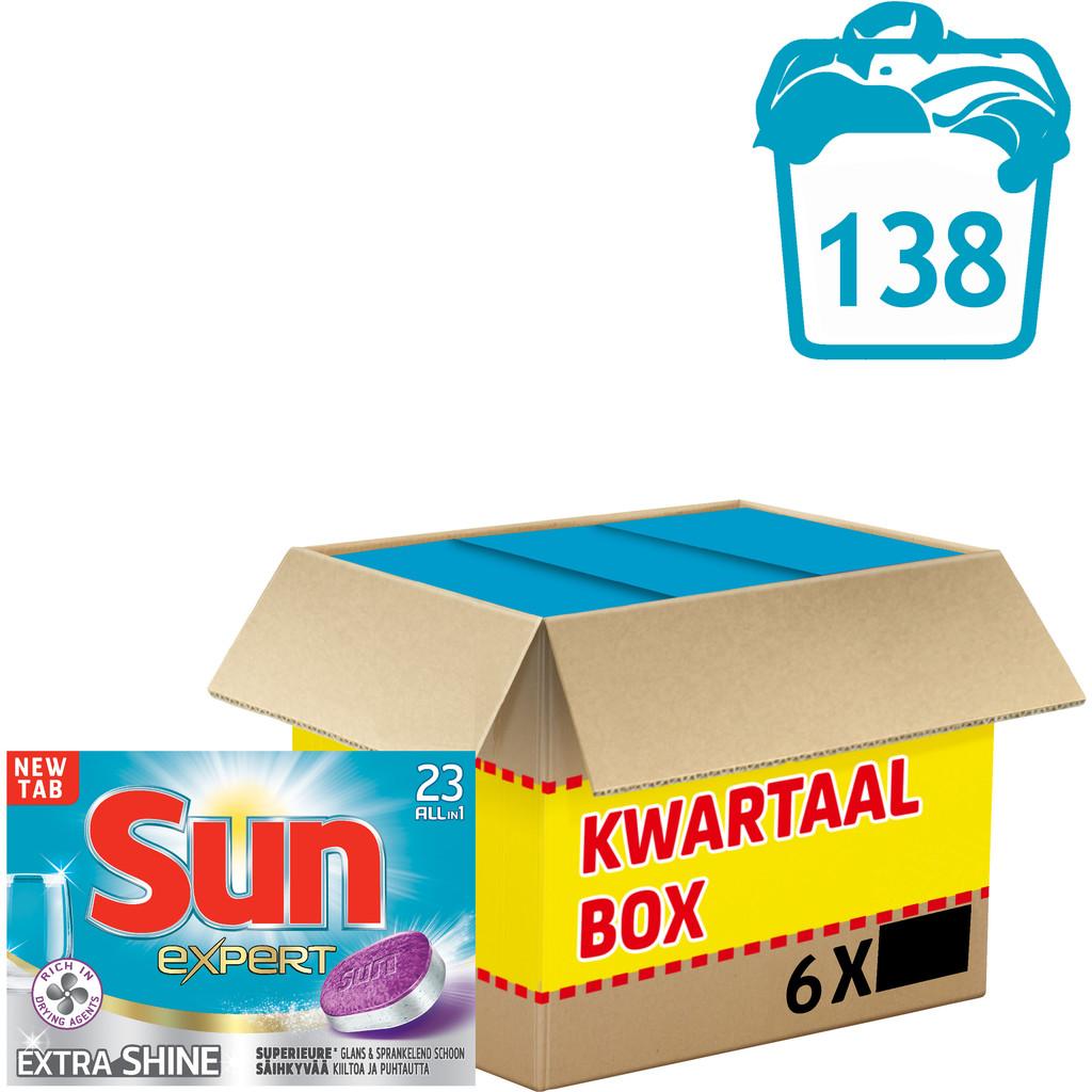 Sun Vaatwastabletten All-in-1 Extra Shine 138 stuks
