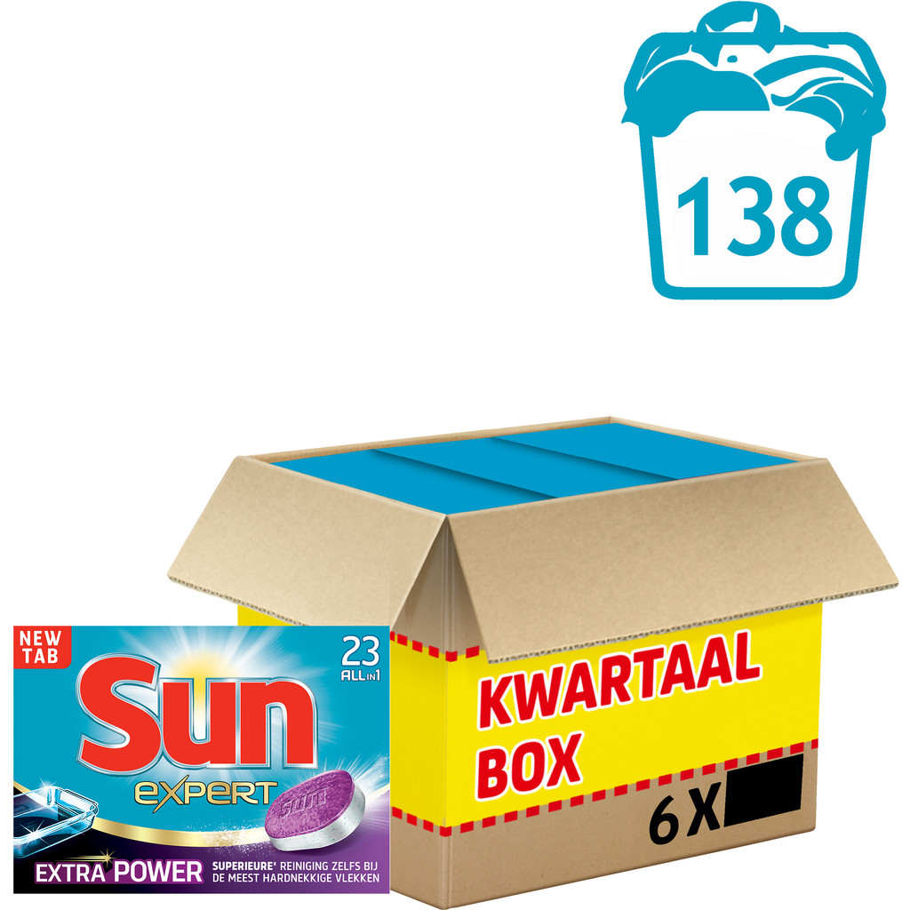Sun Vaatwastabletten All-in-1 Extra Power 138 stuks