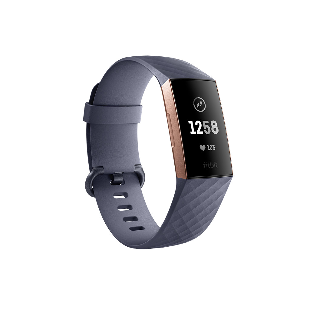 Fitbit Charge 3 Blue Grey / Rose Gold Aluminium