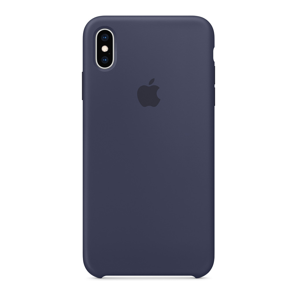 Apple iPhone Xs Max Silicone Back Cover Middernachtblauw